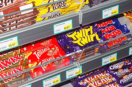 The new-look shop includes a modern confectionery fixture close to the till. Confectionery sales have improved significantly.