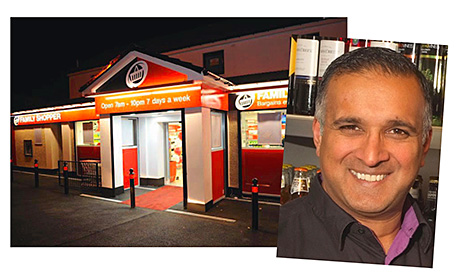 Shahid Razzaq, owner of Mo's Premier, Coatshill in Blantyre, has opened the first of the Booker-supplied Family Shopper discount stores in Scotland, in nearby High Blantyre.