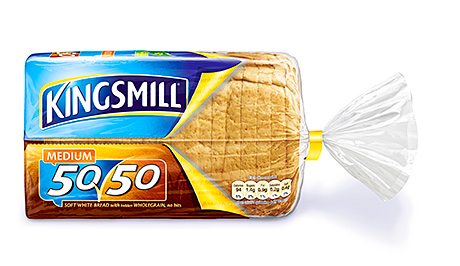 Kingsmill 50/50, one of the growing number of half and half bakery products that appeal to customers looking for healthier bread.