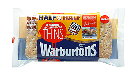 Warburtons' Half & Half Sandwich Thins tap into that trend as well as offering an alternative for lunchboxes. Alistair and Jonathan Brownlee are the new faces of the brand.