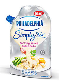 Philadelphia's Simply Stir flavoured sauces are designed to appeal to shoppers looking to put a meal together quickly.