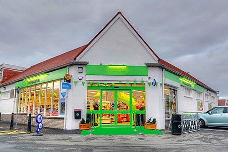 The rebuilt Co-operative Store in Troon, Ayrshire. The store, on the site of a Co-op store that burned down last year, was one of five Co-ops that opened in Scotland last month. The others are in Inverness and on Tayside.