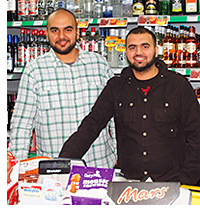 Adnan Arif, left, and Usman Arif, right at the new Pollok Day-Today.