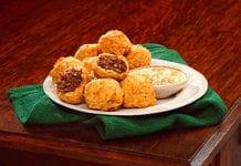 Haggis Bites from McKechnie Jess, which also produces Haggis Lasagne, Haggis Pakora and Spicy Haggis Dippers