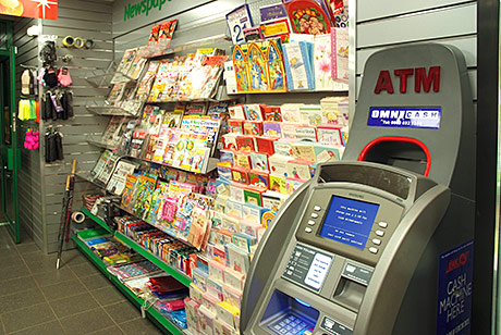 News, greeting cards and an ATM take up positions just inside the newly fitted Day-Today shop.