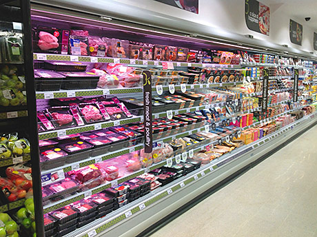 Meat and other chilled foods take up a 15.5m run of chillers at the Benbecula store.