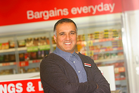 Owner Shahid (Mo) Razzaq, above, at his new Family Shopper store in High Blantyre. The store has been built in part of what was the Whistleberry Hotel. Sales are good but, at the launch, Mo reckoned they'd increase considerably once the unit's drinks licence was in place.