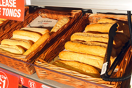 Bake-off bread is baked twice daily in the Family Shopper store, providing an enticing aroma inside the shop.