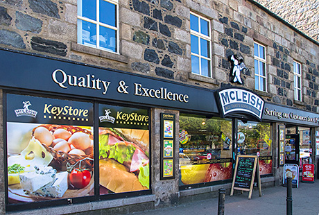 The McLeish c-store in Inverurie, the town with the fewest shop vacancies in the recent LDC / Institute of Retail Studies study of Scottish retail properties. The Aberdeenshire town's vacancy rate was just 2%. Nearby Banff and Huntly both had vacancy rates of more than 30%.