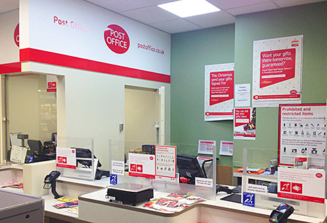 The new post office in Glasgow's Spar Maryhill. Owner Iqbal Sadiq said feedback from customers had been positive.