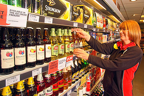 Facing up cider at Scottish Grocer's 2013 Cider Retailer of the Year, Spar Tullibody. Flavoured ciders have provided most of off-trade cider's growth in the last few years. But one firm says 2013 brought some signs of change in Scotland's impulse outlets.