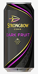 Strongbow Dark Fruit. The Heineken-owned flavoured cider, launched ahead of summer last year – said to have taken a 5% share of off-trade cider sales within eight weeks of launch.