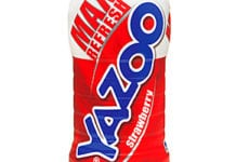 Strawberry Yazoo. Strawberry and Chocolate are the best-selling flavoured milk flavours.