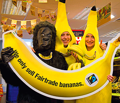 Scotmid staff get more than the T-shirt  as they promote Fairtrade bananas.