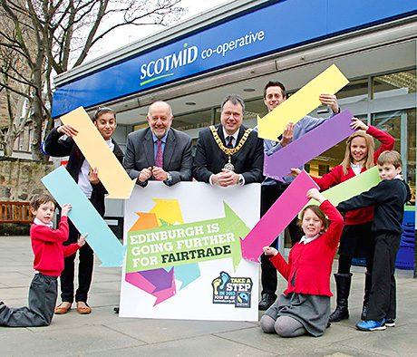 Edinburgh's Lord Provost, Donald Wilson and city schoolchildren, above left, helped launch last year's Edinburgh's Fairtrade Fortnight celebrations at Scotmid Stockbridge.