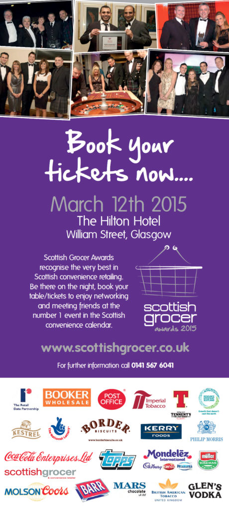 Book your tables for Scottish Grocer Awards 2015.