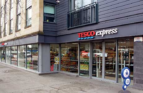 Tesco has opened several stores in Glasgow's west end but Say No to Tesco wants chain store numbers to be capped.