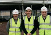 Colin Smith, centre, managing director of Lothian Stores, with fellow directors Graham Benson, left, and David Sands, right, on site at the Pinkie project near Musselburgh.