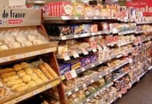 The main bakery fixture at Spar, Hillfoot Road in Ayr takes a prime position in Aisle 1 of the store. Wrapped bread and loose rolls take up the first section of the fixture. As consumers make their way down the aisle they pass morning goods in the second fixture section. The substantial local popularity of cake means those products take a large space in the third segment. To make way for the cakes, Spar-branded part-baked bread and world breads are merchandised in a free-standing display unit at the start of the fixture, and the products do well there. The main fixture ends with bake-off products.