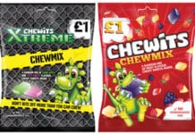 Chewits £1 price-marked sharing bags are aimed at value-conscious big-night-in customers, who the company says are shopping around for value more than ever.
