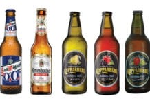 Tennent Caledonian introduced Lemon T last year as a competitor to established fruit flavour lower in alcohol beers like Fosters Radler and Carling Zest. Tennents is also about to extend off-trade distribution of its alcohol-free line Tennents Hee Haw. Carlsberg UK's San Miguel 0.0 and Morgenrot's Krombacher Non-Alcoholic Pils now compete with established alcohol-free beers like Beck's Blue. Kopparberg says its Alcohol-Free Pear and Alcohol-Free Mixed Fruit ciders have done so well it has added Alcohol-Free Strawberry & Lime to its range.