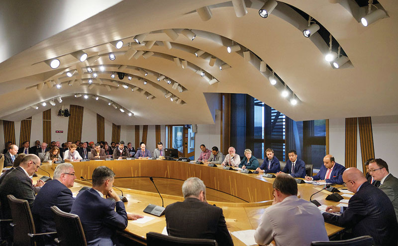 SGF: Cross party meeting at Scottish Parliament. Photograph by Mike Wilkinson....20/9/16 Copyright photograph by Mike Wilkinson. No reproduction or archiving of this image without consent from Mike Wilkinson and payment to him.  Contact Mike on 07768 393673  mike@mike-wilkinson.com  www.mike-wilkinson.com  http://mike-wilkinson.photoshelter.com