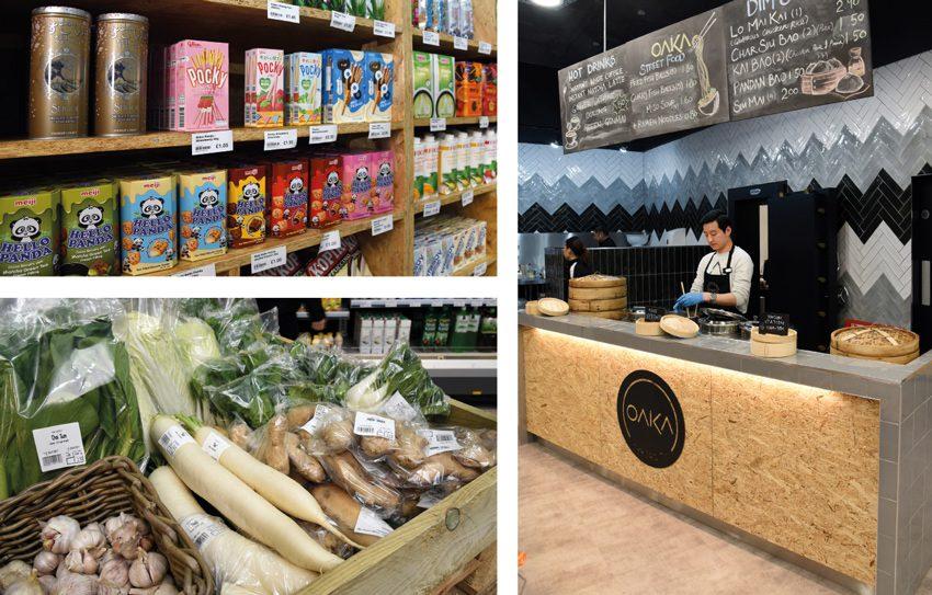 Oaka Supercity hot food counter