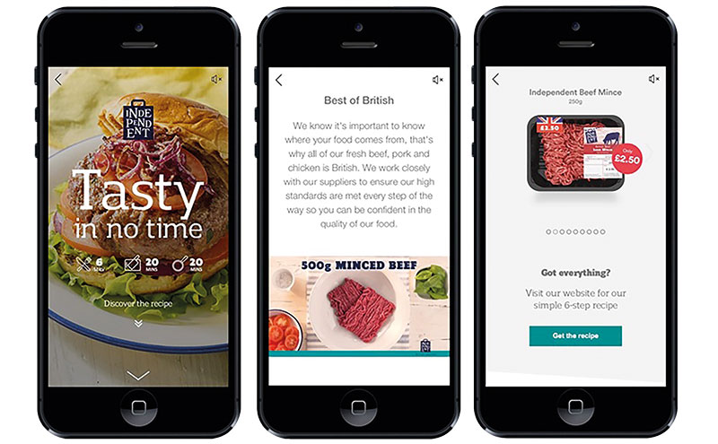The 'Tasty in no Time' campaign focuses on Costcutter's recipe for burgers.