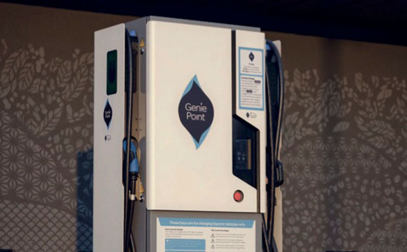 ChargePoint's GeniePoint 50kW charger.