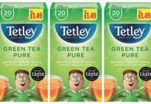 Tetley's Green Tea pure