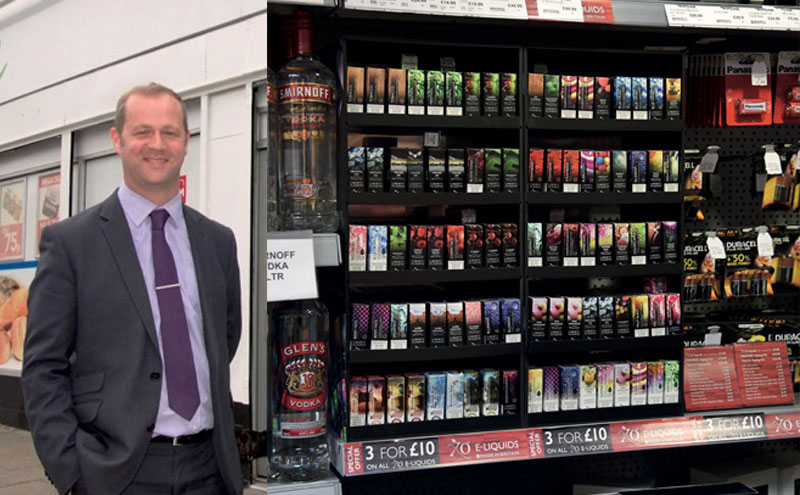 [Left] Chris Gallacher, Scotfresh [Right] Scotfresh uses a single supplier – Liberty Flights – for all its e-cigarettes across its store estate. Six lines account for more than 50% of sales.