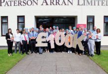 Paterson's Shortbread staff celebrate raising £100k for Macmillan