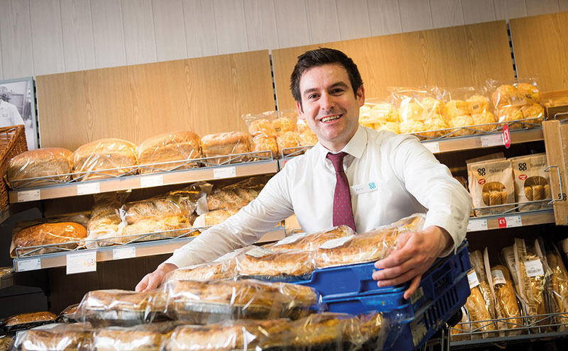 Scottish bakery items at the Co-op