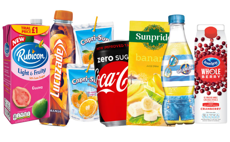 Assorted soft drinks