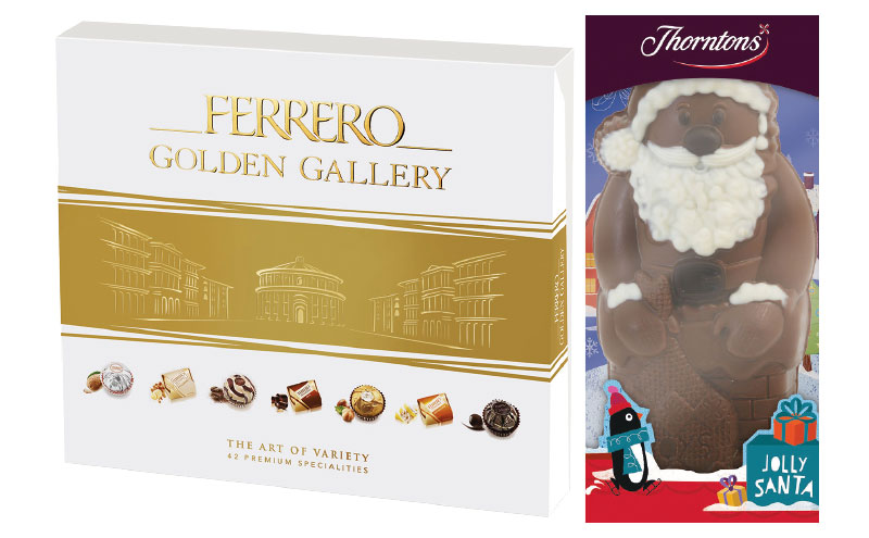 Ferrero and Thorntons Christmas products