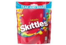 Skittles tear and share bag