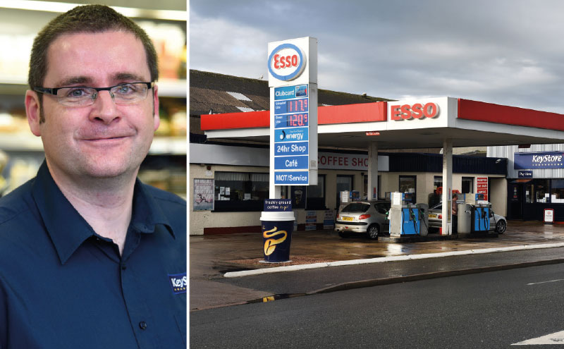 """Retailer Garry Haigh (above) says Peterhead Motors has been """"crazy busy"""" since he switched supply to Filshill and converted his shop to the new KeyStore More fascia. Turnover is up over 25%, with categories like craft beer attracting new customers."""