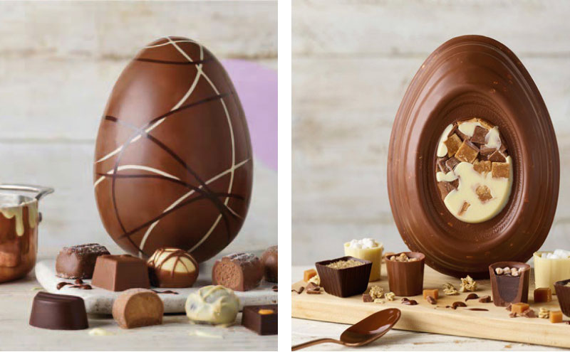 Thorntons Dessert Eggs are available again this year in three varieties in a pack that includes four individual chocolates as well as the egg.