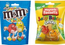 M&Ms and Jelly Babies