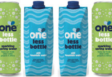 One Water carton and can