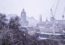 Edinburgh in snow