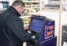 Man at cashpoint