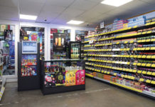 The purpose built vaping room at United Wholesale (Scotland)'s Queenslie depot.