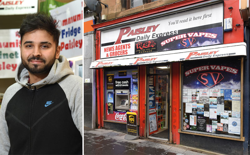 Rekz Afzal operates a community fridge and cabinet initiative at his store, RSA Your Local Shop in Paisley town centre. The initiative offers support for Paisley residents struggling with food poverty by providing access to produce, prepared meals and household essentials.