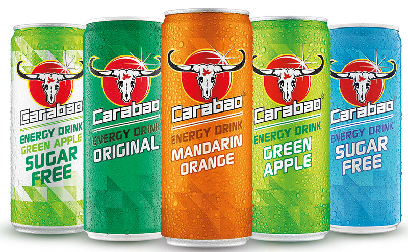 5 cans of Carabao