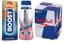 Ramge of energy drinks