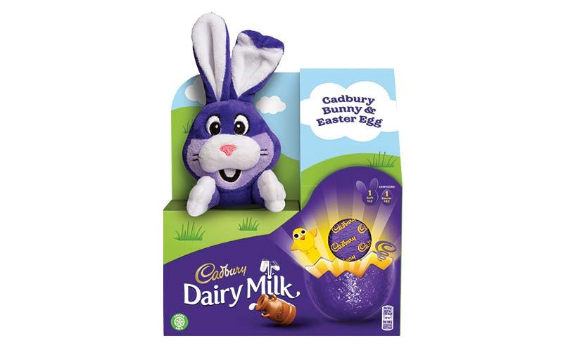 Cadbury Bunny plush toy and egg