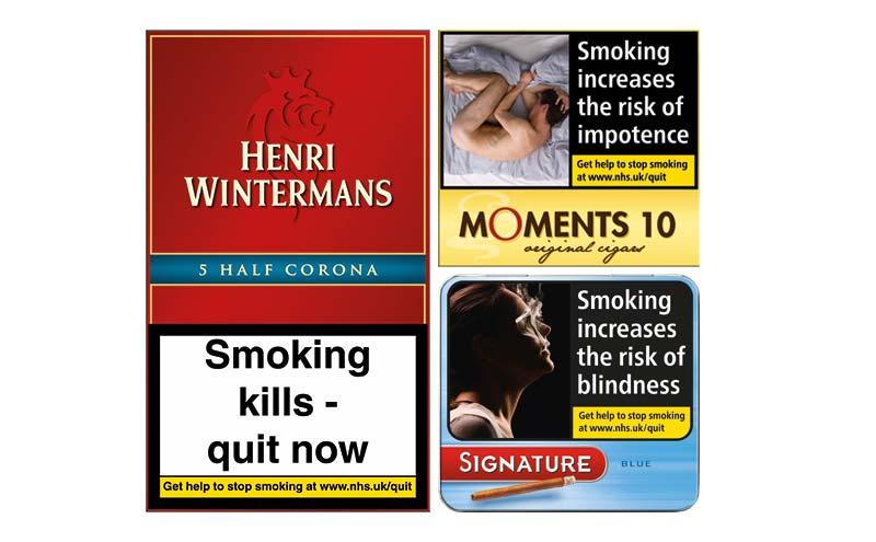 Henri Wintermans, Moments 10 and Signature cigar packets