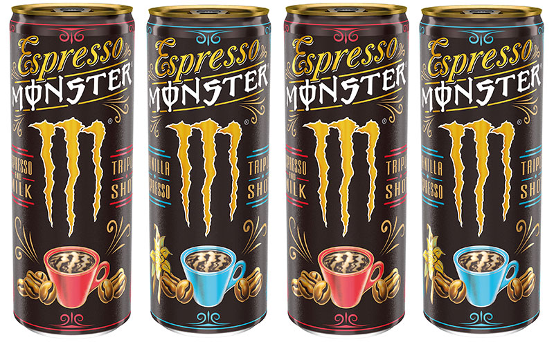 Monster coffee cans