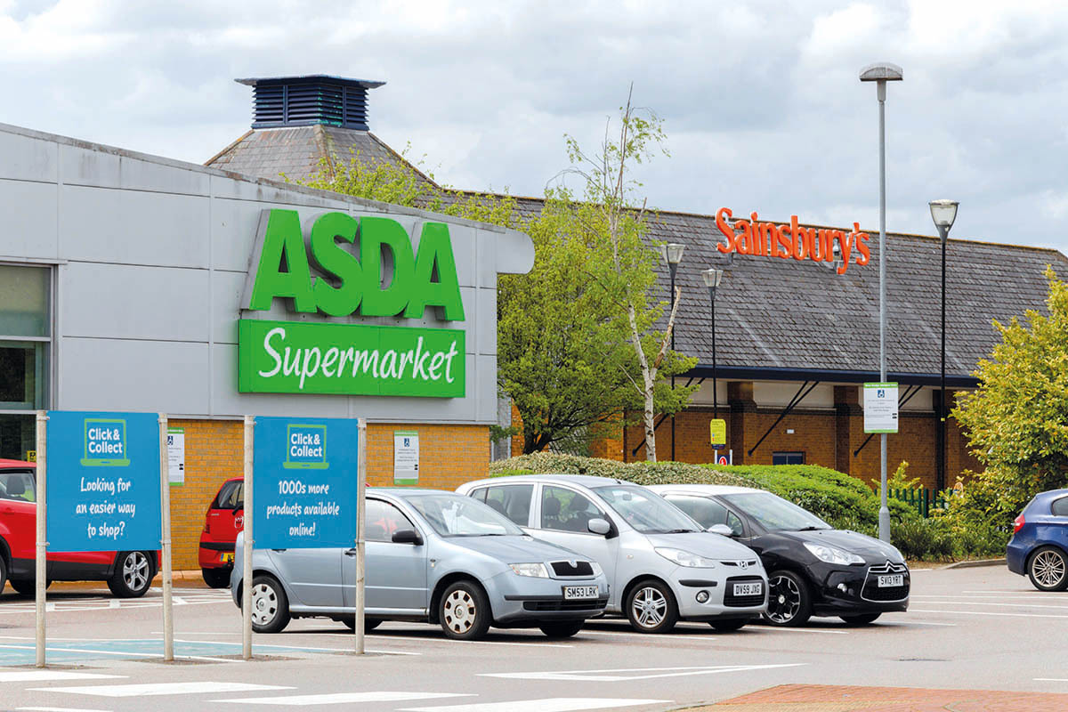Sainsbury's and Asda supermarkets. The pair's proposed merger was blocked by the Competition and Markets Authority.